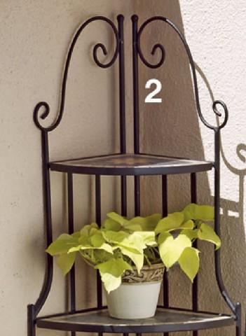 mosaik eckregal metall gartenm bel regal top preis neu ebay. Black Bedroom Furniture Sets. Home Design Ideas